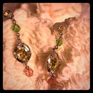 Disney Drop Earrings Swarovski Crystals